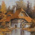 Water mill3  cross stitch pattern in pdf DMC