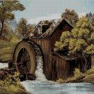 Water mill 2  cross stitch pattern in pdf ANCHOR