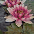 Water lily cross stitch pattern in pdf ANCHOR