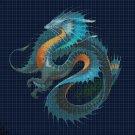 Water dragon  cross stitch pattern in pdf DMC