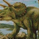 Triceratops cross stitch pattern in pdf DMC