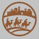 Three Wise Men silhouette cross stitch pattern in pdf