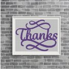 Thanks2 silhouette cross stitch pattern in pdf