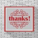 Thanks silhouette cross stitch pattern in pdf