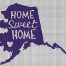 Sweet home Alaska  silhouette cross stitch pattern in pdf