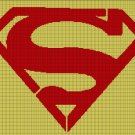 Superman logo  silhouette cross stitch pattern in pdf