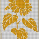 Sunflower silhouette cross stitch pattern in pdf