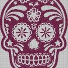 Sugar Skull  silhouette cross stitch pattern in pdf