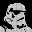 Strom trooper face  silhouette cross stitch pattern in pdf