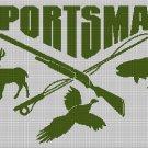 Sportsman  silhouette cross stitch pattern in pdf