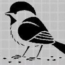 Sparrow  silhouette cross stitch pattern in pdf