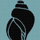 Snail shell  silhouette cross stitch pattern in pdf