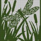 Shore silhouette cross stitch pattern in pdf