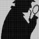 Sherlock Holmes4  silhouette cross stitch pattern in pdf