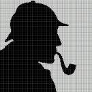 Sherlock Holmes2  silhouette cross stitch pattern in pdf