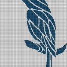 Seablue bird silhouette cross stitch pattern in pdf