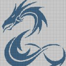 Sea dragon silhouette cross stitch pattern in pdf