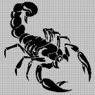 Scorpion2 silhouette cross stitch pattern in pdf