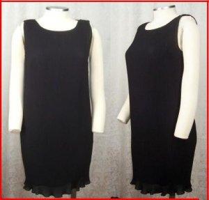 VIVIENNE TAM LITTLE BLACK DRESS S 1 Mini Black Tiny Pleats COCKTAIL