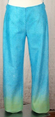 NEW VIVIENNE TAM PANTS Size3 Medium M Blue Green NWT $265