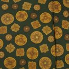 GREEN SULKA NECKTIE Silk Tie Gold Buttons Made in France