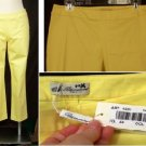 NEW BLUMARINE CAPRIS 44 M Medium 10 NWT Yellow Cropped Pants