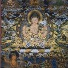 Chengrezig Thangka,Avalokitesvara thangka Hand Painted Canvas Cotton Tibetan Thangka From Nepal