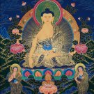 Buddha Shakyamuni 2 Chief Disciples Fine Quality Hand Painted Painted Tibetan  thangka From Nepal