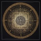 Om Mantra Mandala With Om Mane Padme Hum Hand Painted Tibetan Thangka Painting From Nepal