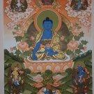 Medicine Buddha thangka Bhaisajyaguru Fine Quality Tibetan Thangka Painting From Nepal