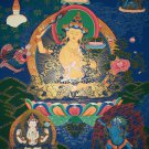 Manjushri Bodhisattva God Of Wisdom Fine Quality Hand Painted Tibetan Thangka Painting From Nepal