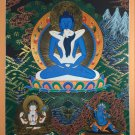 Samanta Bhadra (Buddha Shakti) Hand Painted Tibetan Thangka Paintng From Nepal