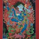 Simhamukha Yogini The Female Tantric Buddha Hand Painted Thangka From Nepal