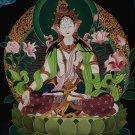 White Tara Hand Painted Master Piece Canvas Cotton Tibetan Thangka Painting