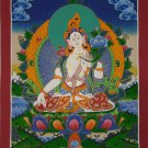 White Tara Hand Painted Tibetan Thanka painting Meditation Wall hanging Tibetan Art From Nepal