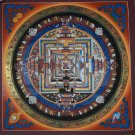 Kalachakra Mandala Fine Quality Hand Painted Tibetan Canvas Cotton Thangka from The Nepal