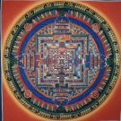 Kalachakra Mandala Palace Hand Painted Fine Quality Thangka Painting From Nepal