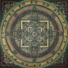 Kalachakra Mandala Fine Quality Tibetan Hand Painted Canvas Cotton Thangka Painting From Nepal