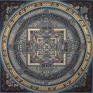 Kalachakra Mandala Fine Quality Tibetan Hand Painted Canvas Cotton Thangka Painting From Nepa