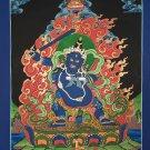 A Black Manjushri SadhanaSelf-Healing Hand Painted Tibetan Thangka Painting From Nepal