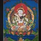 Union of Wisdom and Compassion    Vajrasattva Shakti Tibetan Thangka painting