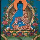 Bhaisajyaguru Medicine Buddha Hand Painted Tibetan Thangka Painting From Nepal