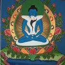 Buddha Shakti Samantabhadra Buddha Hand Painted Tibetan Canvas Cotton thangka Painting From Nepal