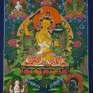 Manjushri  Bodhisattva God Of Wisdom Fine Quality Hand Painted Tibetan Wall Hanging Thangka Painting