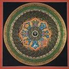 Buddha Eye Mantra Mandala With 8 Auspicious Symbols Is Hand Painted Thangka Painting From Nepal