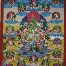 21 Tara Tibetan Thangka Hand Painted Tibetan Canvas Cotton Thangka Painting From Nepal