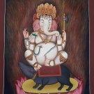 Four Arm Ganesh Hand Painted Canvas Cotton Fine Quality Thangka Painting From Nepal