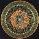 Om Tibetan Mantra Mandala Hand Painted Tibetan Wall HangingThangka Painting From Nepal