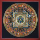 Om Tibetan Mandala Hand Painted Tibetan Wall HangingThangka Painting From Nepal