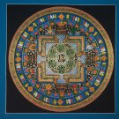Tibetan Mantra Mandala Hand Painted Tibetan Wall HangingThangka Painting From Nepal